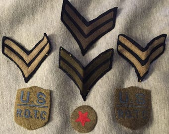 SALE Vintage US ROTC Patches Six Patches in All