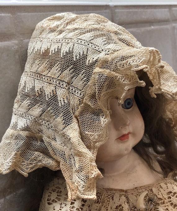 Victorian Lace Bonnet for Baby Delicate Antique La