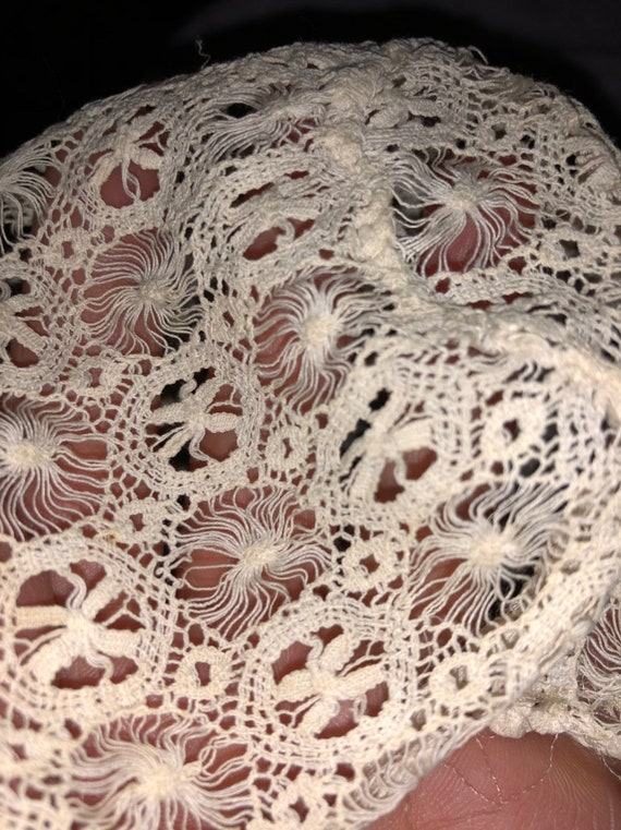 Victorian Lace Baby Doll Bonnet for Baby Delicate… - image 2