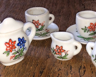 Vintage Toy China Tea Set Made in Japan Service for 3 Like New in Original Box No. T/4524 Jaymar?