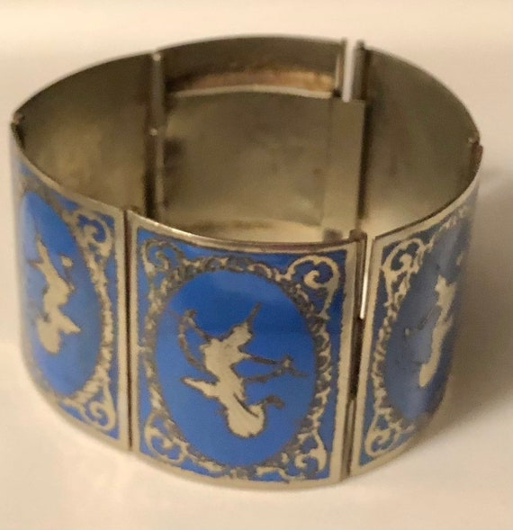 Unique collectible one off siam sterling silver 7 inch bracelet