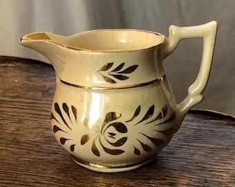 1830s Luster Ware Creamer Antique Cream Pitcher Pitcher Creampot Creamer