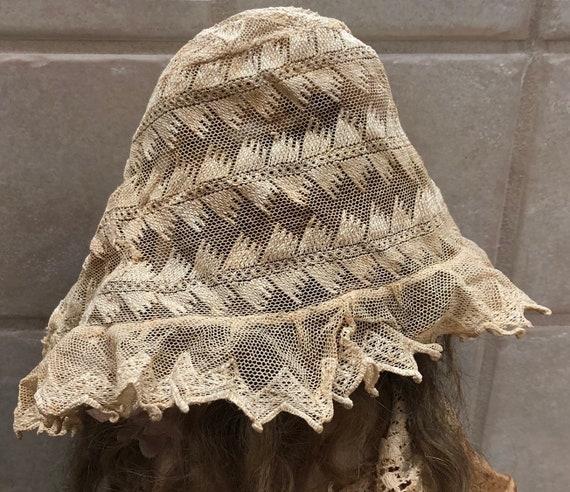 Victorian Lace Bonnet for Baby Delicate Antique L… - image 3