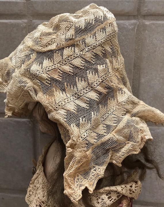 Victorian Lace Bonnet for Baby Delicate Antique L… - image 6