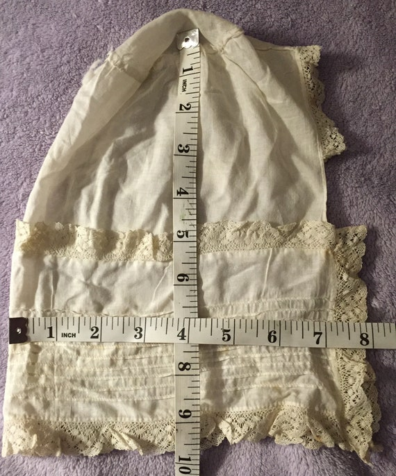 Edwardian Lace Baby Bonnet Victorian Baby Bonnet … - image 8