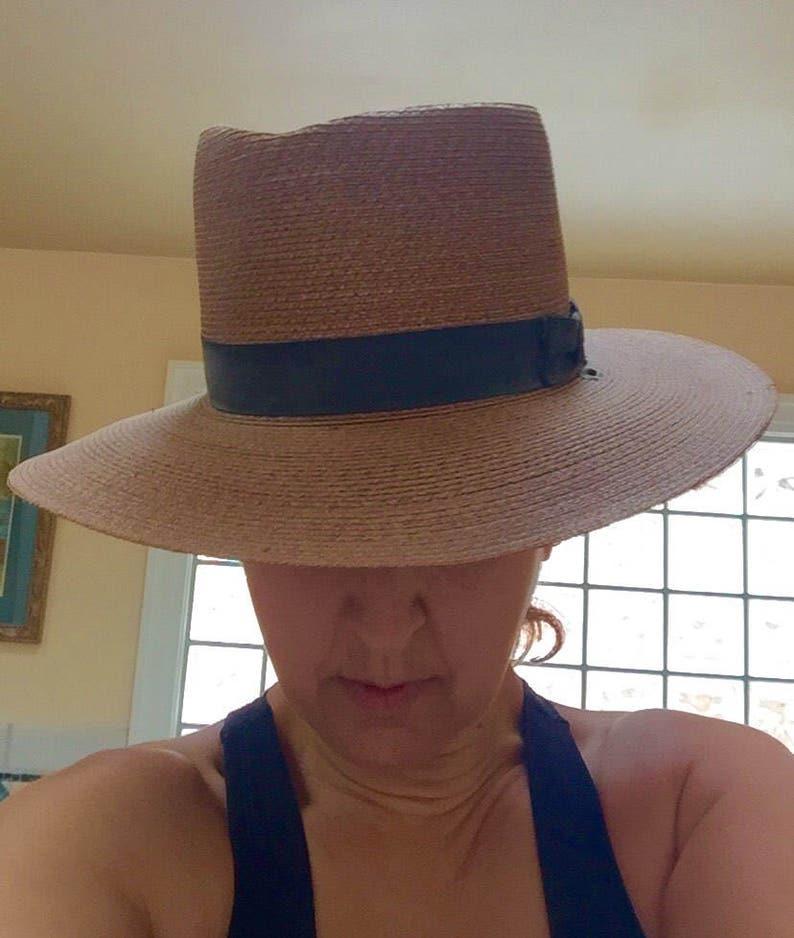 18bf7a1b67559 Stratton Police Hat Wide Brimmed Straw Vintage Trooper Hat