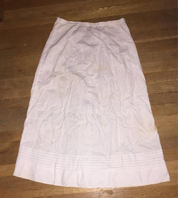 Cotton Victorian Petticoat Edwardian Petticoat Lov