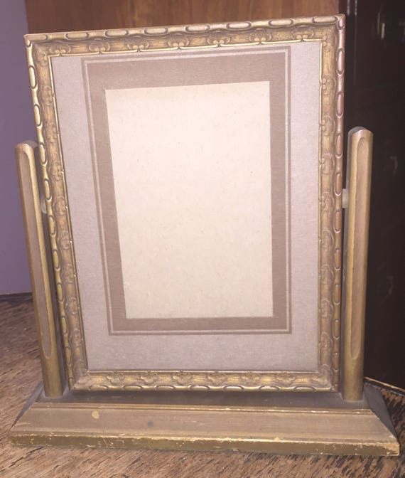 Wooden Picture Frame Standing Deco Picture Frame Antique Art Etsy