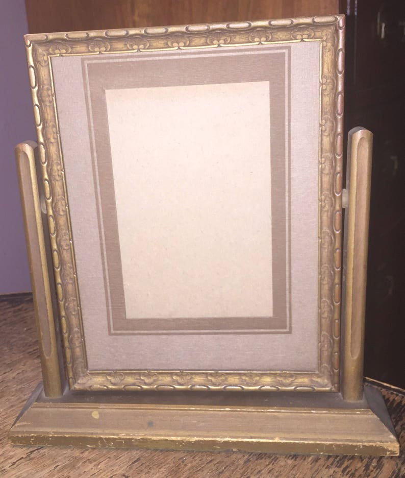 Wooden Picture Frame Standing Deco Picture Frame Antique Art image 0