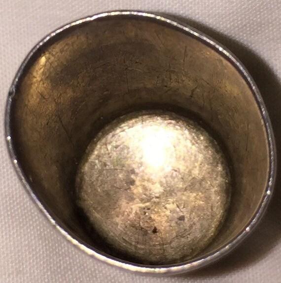 Sterling couture dé dé dé à coudre argent Antique dé à coudre à la main gravé argent dé à coudre Thimble Vintage vente c256c2