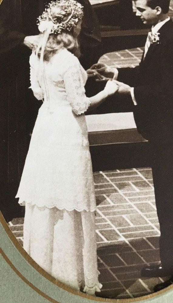 Authentic Antique Edwardian Lace Dress Victorian … - image 9