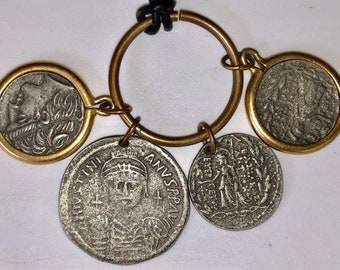Lovely Replica Ancient Coin Necklace Old Greek Coin Roman Coin Pendant Necklace