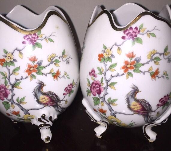Limoges Egg Vases Lovely Vintage Murmac Limoges France Floral Etsy