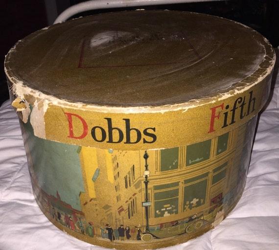 Antique Dobbs Hatbox Vintage 1940s Dobbs Fifth Avenue Street  0c4f117516c