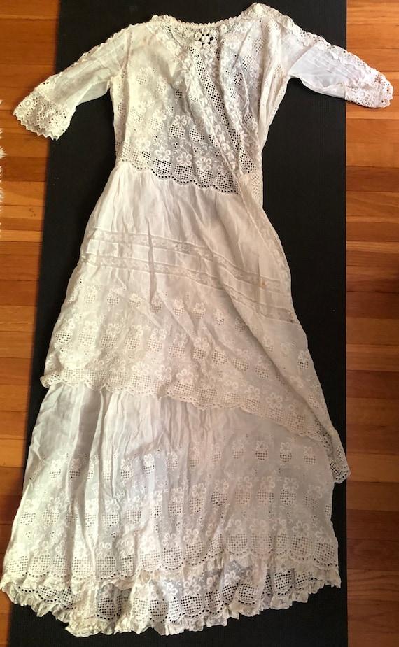 Authentic Antique Edwardian Lace Dress Victorian … - image 2