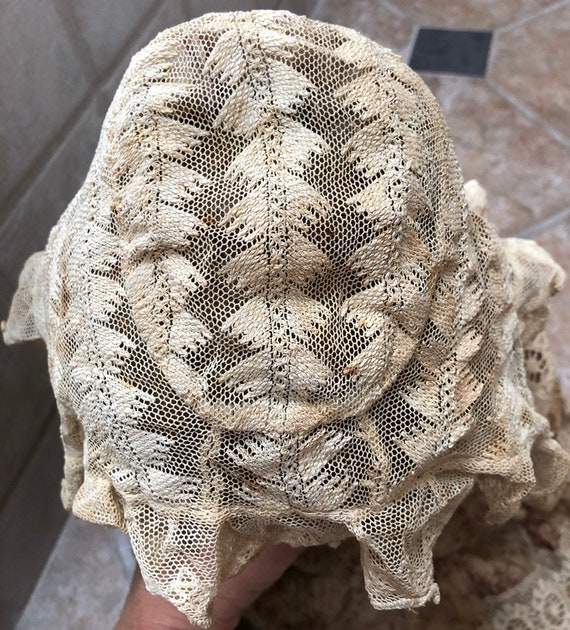 Victorian Lace Bonnet for Baby Delicate Antique L… - image 5