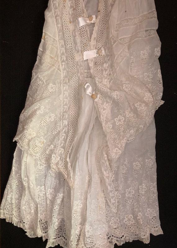 Authentic Antique Edwardian Lace Dress Victorian … - image 4