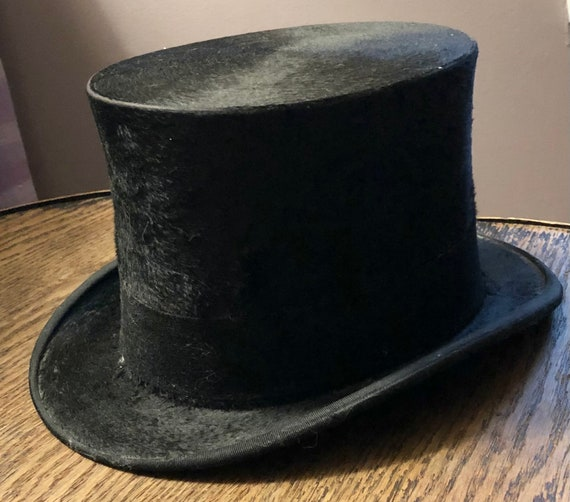 Antique Beaver Top Hat by W J Scotty London Antiqu