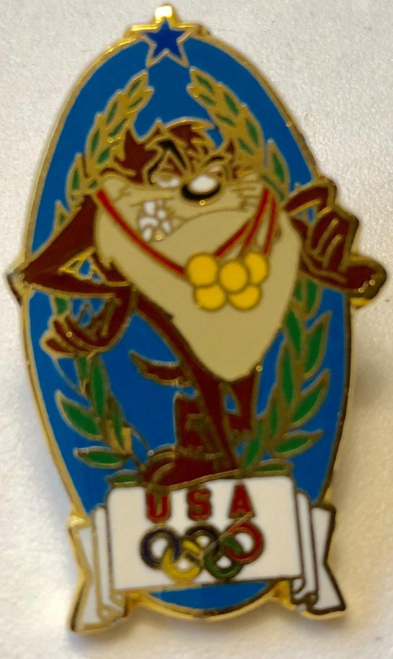 1996 Atlanta Olympics Warner Bros Pin Collection 6 Pcs Pin-back Looney Tunes Bugs Bunny Daffy Duck Tasmanian Devil Porky Pig Sylvester SALE