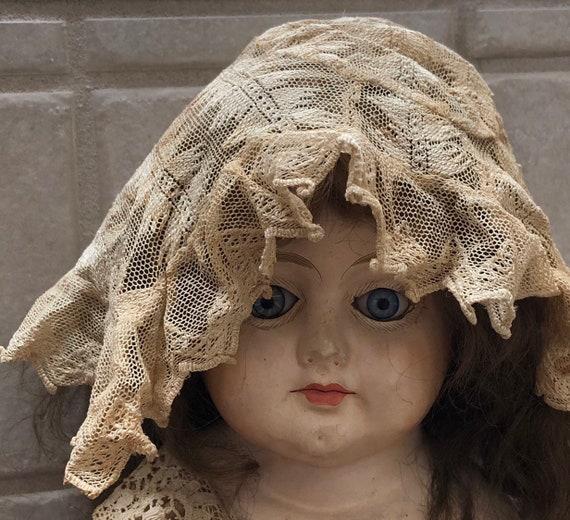 Victorian Lace Bonnet for Baby Delicate Antique L… - image 2