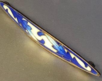 Art Nouveau Champleve Enamel Lapel Pin Brooch Ca 1900 Enamel Antique Bar Pin Unisex
