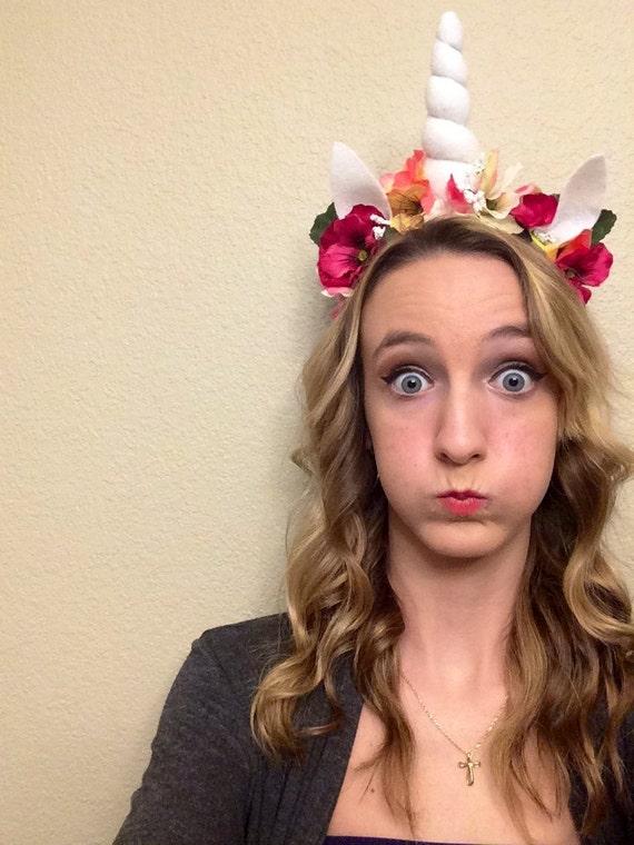 Unicorn costume unicorn horn headband unicorn gift flower  9122d841a9f