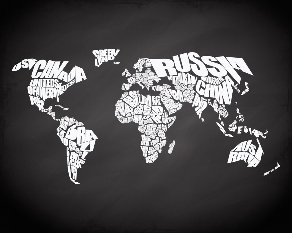 World word map on chalkboard background quote map print canvas world word map on chalkboard background quote map print canvas world map chalkboard map home decor canvas typography world map stencil gumiabroncs Gallery