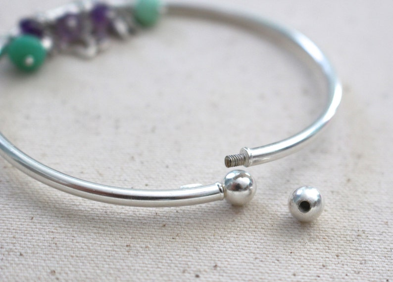 f41dad32b9966 Sterling Silver Bangle - Charm Bracelet - Twist Open Bangle - Add A Charm  Bracelet - Silver Bracelet - Bangle Bracelet - Bangle
