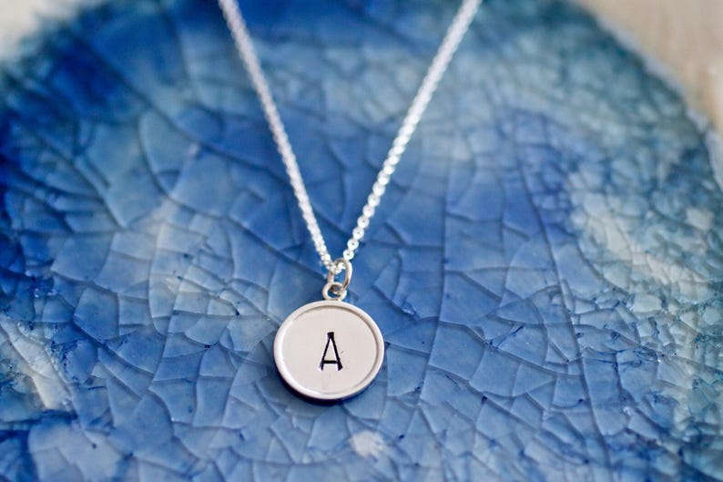 Mommy Jewelry Sterling Silver Initial Charm Large Initial Charm Gift For Her Monogram Charm- Personalized Charm Initial Charm