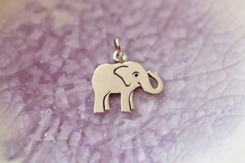 Elephant Charm  Elephant Jewelry  Friendship Charm  Animal image 0