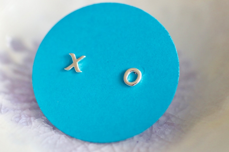 X O  Earrings  Sterling Silver Studs  Hugs and Kisses  Post image 0