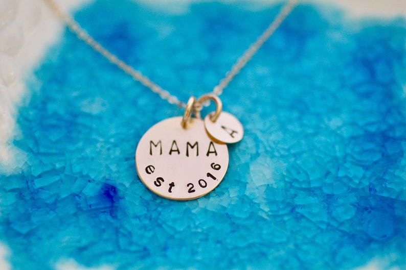 Mama Necklace  Gold Charm  Mom Necklace  Mom Necklace  New image 0