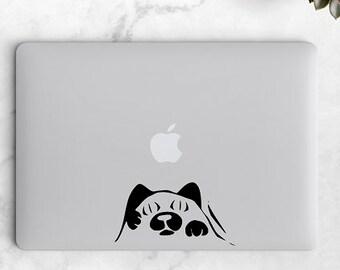 Cat Peeking  -Cat lover - Cat Decals- Laptop Sticker- Laptop Decal - Laptop Stickers - Car Decals - Vinyl Decal - Vinyl Stickers
