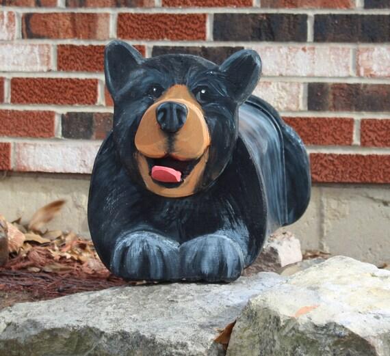 black bear mailbox pet lover gift wildlife lover custom etsy