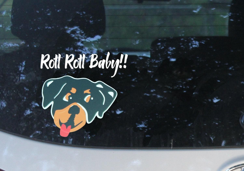 rottweiler dog car decal animal lover gift dog rescue love. Black Bedroom Furniture Sets. Home Design Ideas