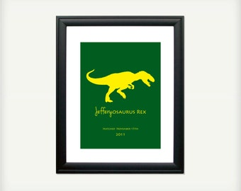 fb8a1eaa Personalized Dinosaur Print - The Meat Eaters - 8.5x11 - also available in  13x19, 11x14, and 5.5x8.5 - see listing details
