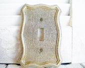 Regency Mid Century Switchplate Single Toggle Price for 1 Light Switch Cover Gold Bronze Wall Decor