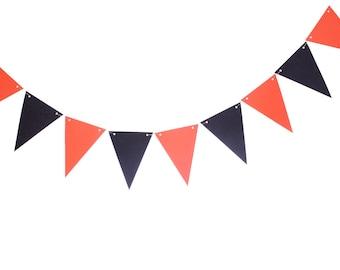 Aqua Orange Gray White Pennant Banner Triangle Banner Etsy