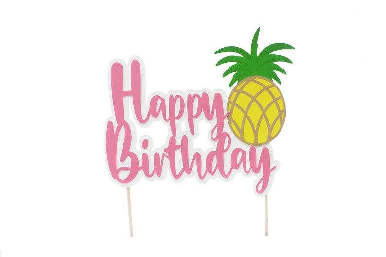 Hawaiian Tropical Luau Birthday Banner Tropical Pineapple Photo Prop Pineapple Birthday Banner