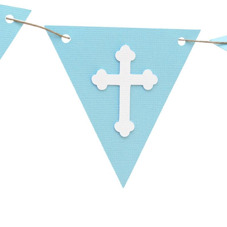 Cross Holy Communion Pink /& White Christening Baptism Bunting Flag Banner