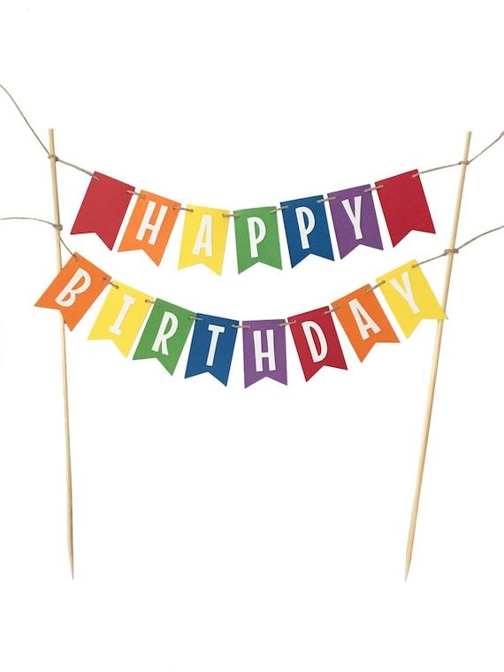 happy birthday flag cake banner name cake banner name cake etsy
