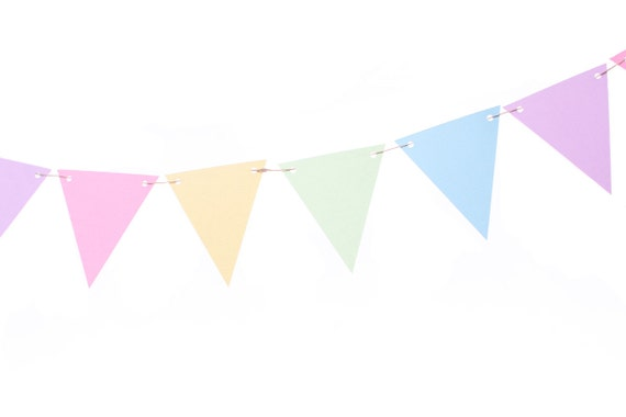 Pastel Rainbow Flag Banner Party