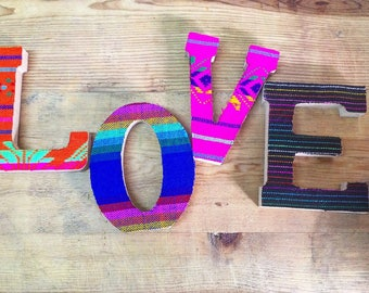 Say anything with style!!! Even if its just your name! Beautiful Mexican inspired letters