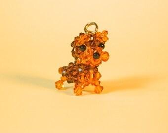 Smoked Topaz yorkshire terrier | Terrier charm | Miniature terrier | Terrier gift | Cute terrier | Terrier figure | Cute terrier