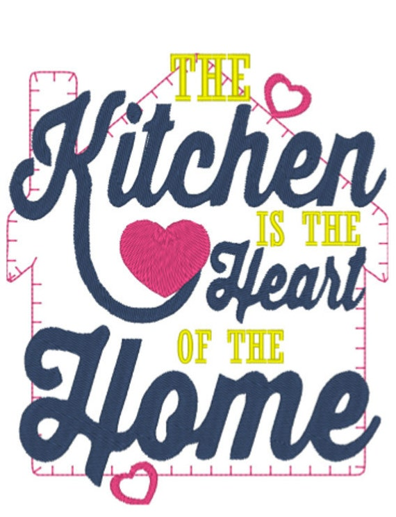 Remarkable Kitchen Heart Of Home Embroidery Design 1 Home Interior And Landscaping Eliaenasavecom