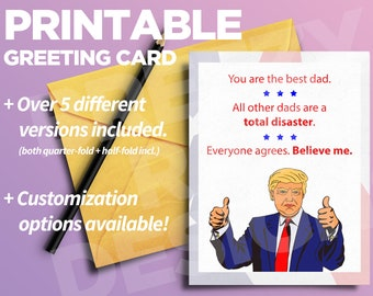 PRINTABLE - Father's Day Trump Card - Other Dads Total Disaster