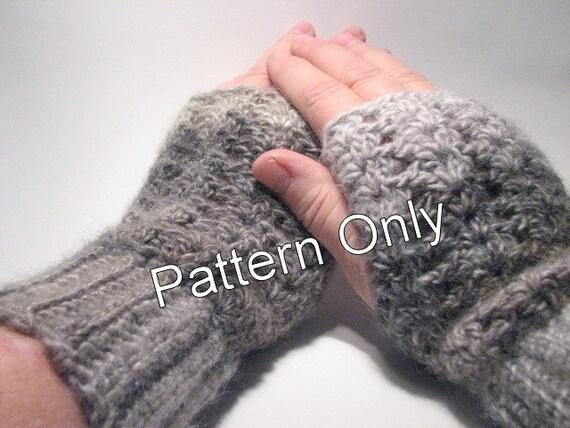 Fingerless Gloves Easy Crochet Pattern Crochet Fingerless Etsy