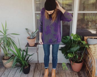 Sweet Vintage 80's Hipster Sweater
