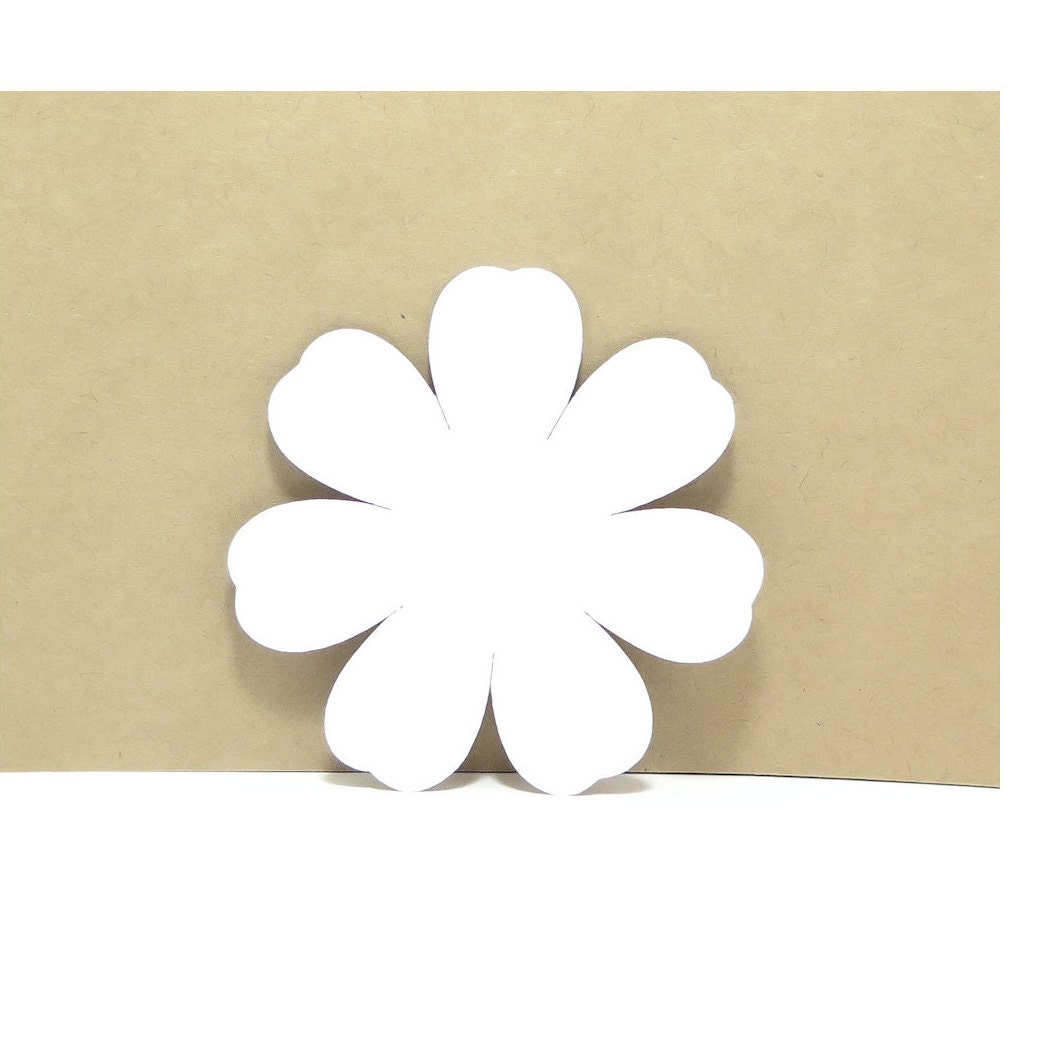 Paper Flowers Cardstock Paper Flower Shapes 2 12 X 2 12 Etsy
