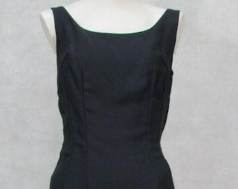 8538e5bb7e99e 1960s Dress Low Back Rose Ruffled Bottom Vintage Wiggle Dress Designer  Alfred Werber